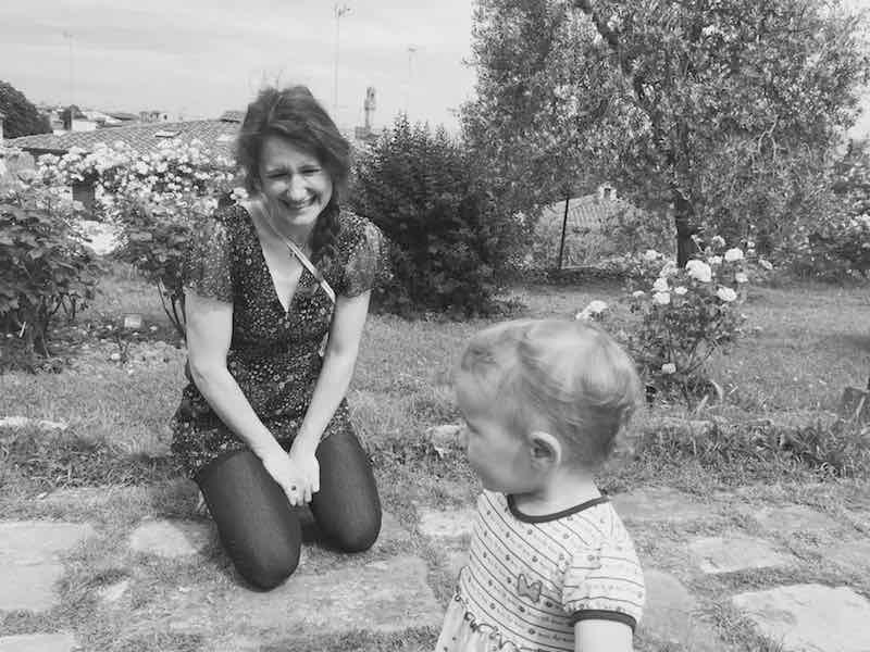 Con Margherita Artemisia al Giardino delle Rose. Ricordi
