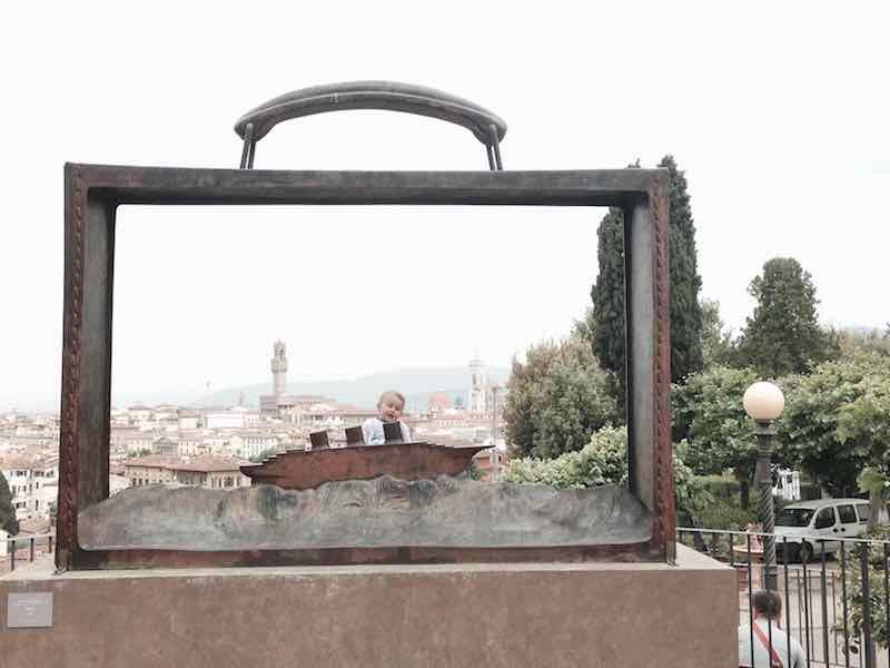 Una cartolina di Firenze dal Giardino delle Rose. Firenze e Margherita Artemisia, i miei due grandi amori.