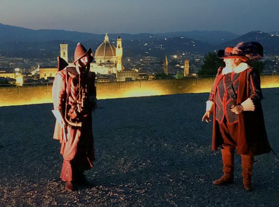 La Compagnia delle Seggiole al Forte Belvedere con l'ora miracolosa