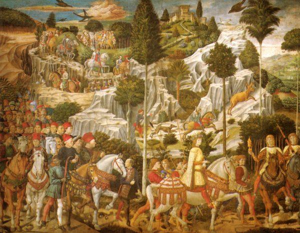 Lorenzo, Piero e Giovanni dei Medici nella Cavalcata dei Magi in Palazzo Medici Riccardi