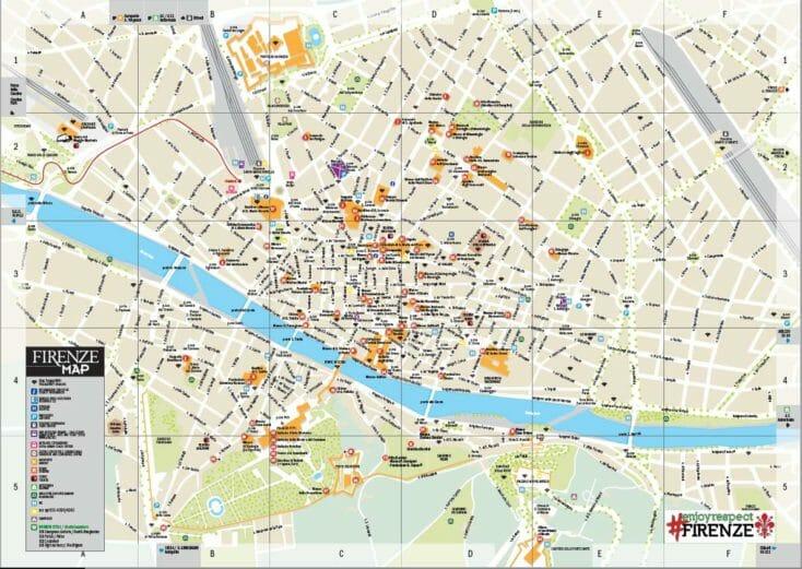 Mappa Turistica di Firenze ufficiale