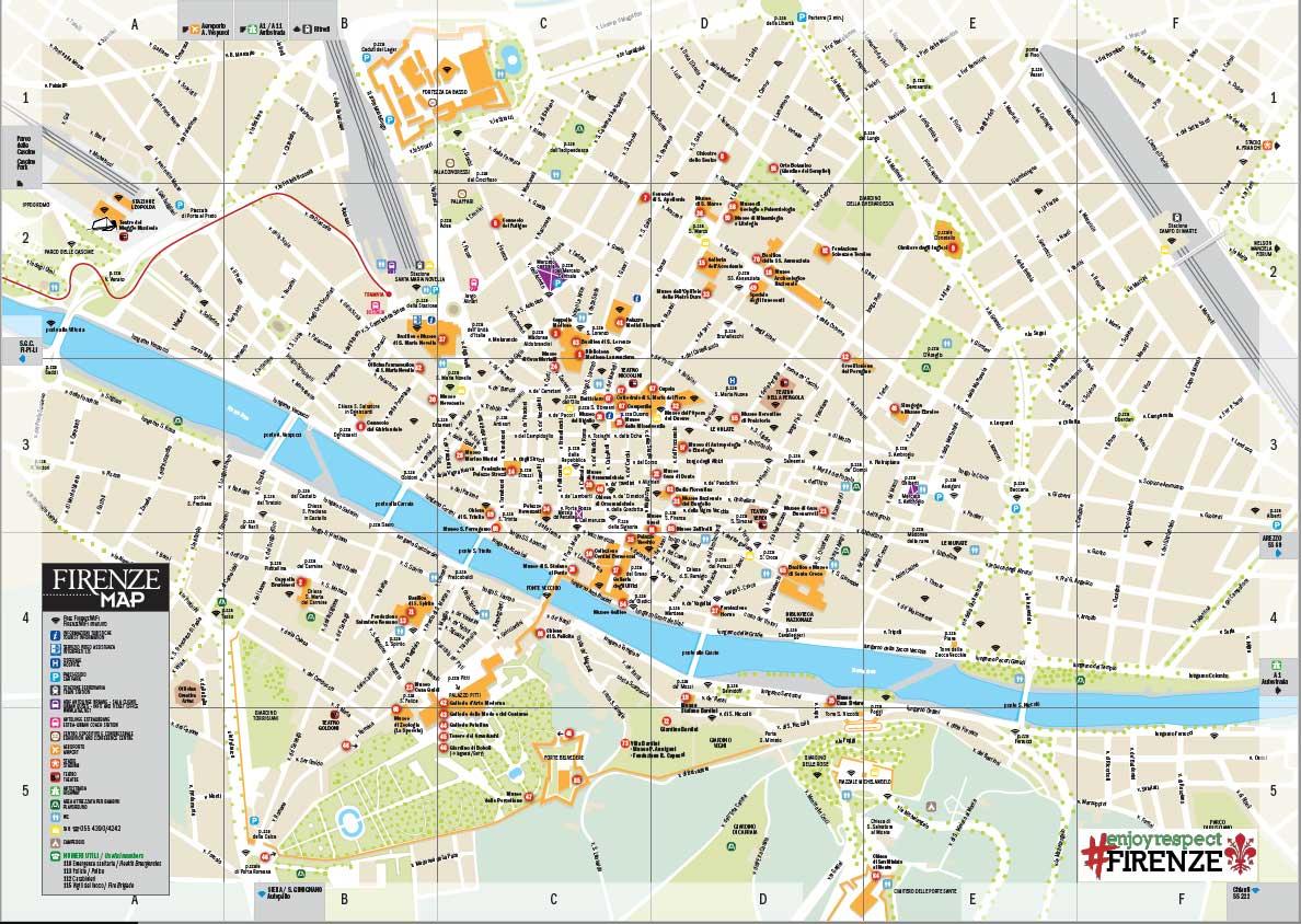 Cartina Citta Di Firenze.Mappa Turistica Di Firenze Scopri I Luoghi Da Visitare
