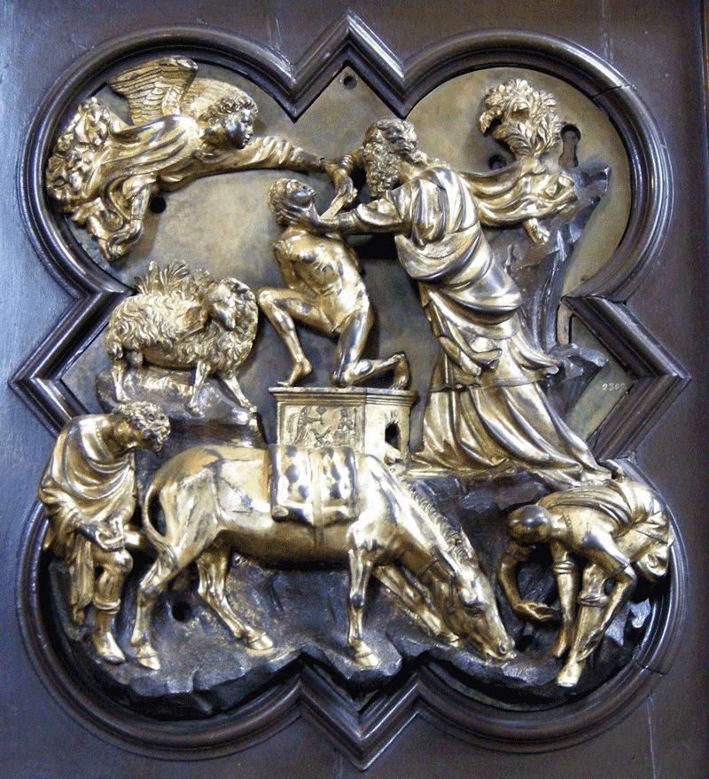 Formella del Brunelleschi per il battistero