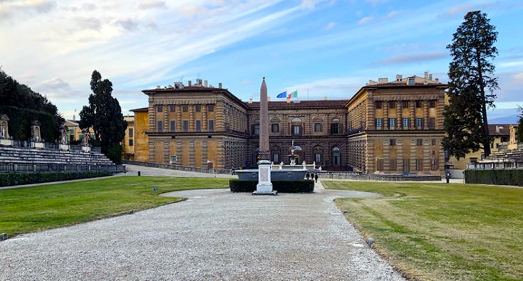 Palazzo Pitti visto dal Giardino di Boboli