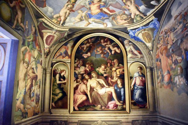 La Cappella di Eleonora con gli affreschi di Bronzino