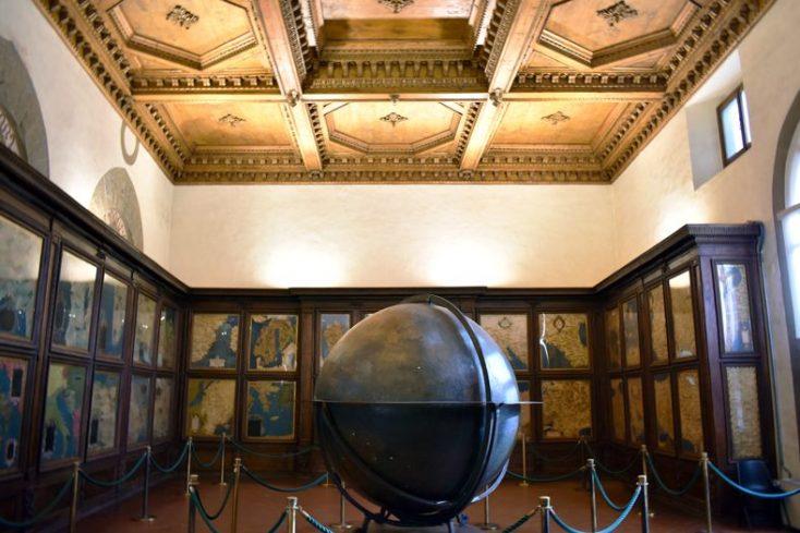 La Sala dei Mappamondi in Palazzo Vecchio