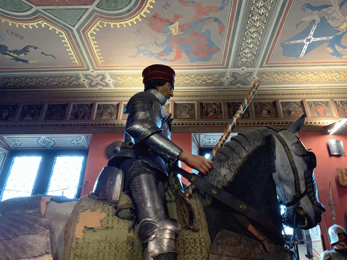 Condottiero al Museo Stibbert ispirato all'affresco di Paolo Uccello