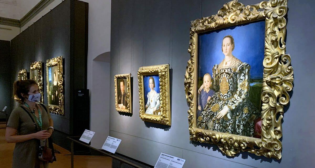 Uffizi Firenze, Eleonora di Toledo, Ritratto del Bronzino