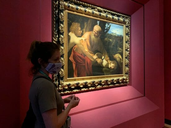 Uffizi Firenze Caravaggio Sacrificio di Isacco