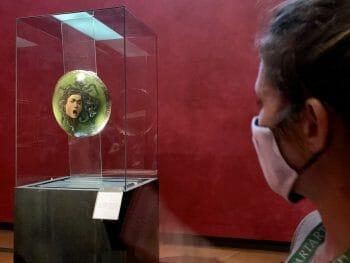 Uffizi Firenze Caravaggio Testa di Medusa