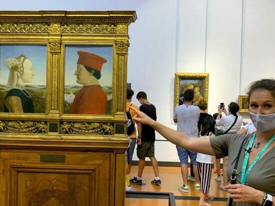 I Duchi di Urbino, capolavoro di Piero della Francesca conservato agli Uffizi di Firenze