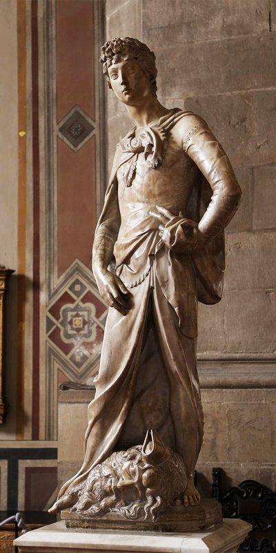 Il David marmoreo di Donatello