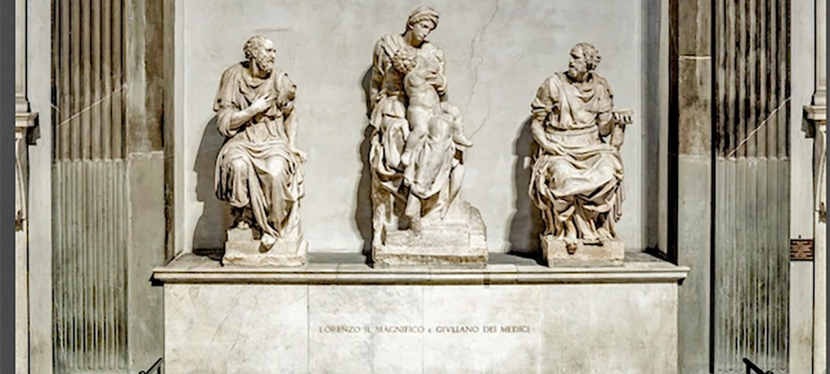 Cappelle Medicee, la tomba di Lorenzo Il Magnifico e del fratello Giuliano