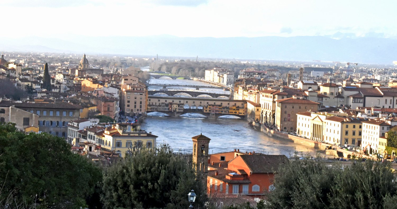 Veduta del Ponte Vecchio da Piazzale Michelangelo