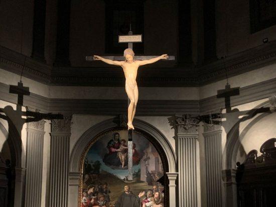 michelangelo a firenze crocifisso ligneo santo spirito