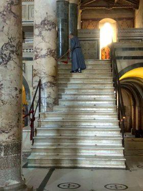 Una delle scalinate di accesso alla Sacrestia ed alla Clausura dei Monaci in San Miniato