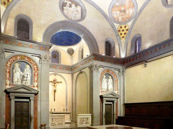 La Sacrestia Vecchia in San Lorenzo, opera del Brunelleschi